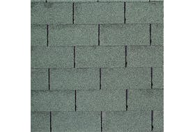 Ensemble de shingle vert, surface du toit 15 m² max